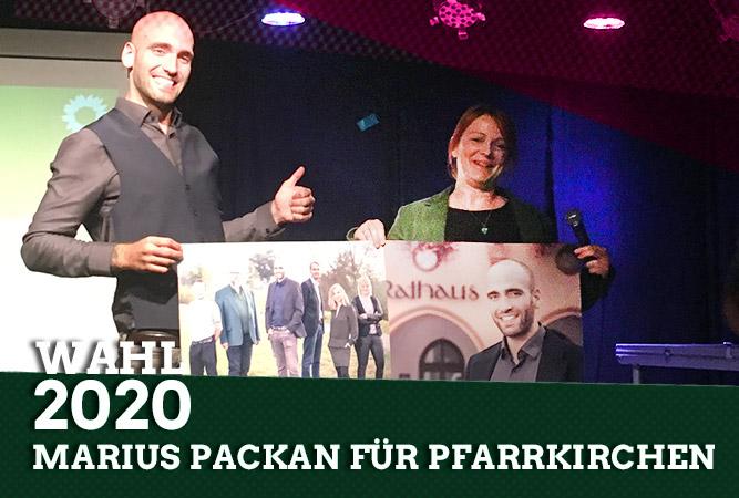 Marius Packan packt für die Grünen an