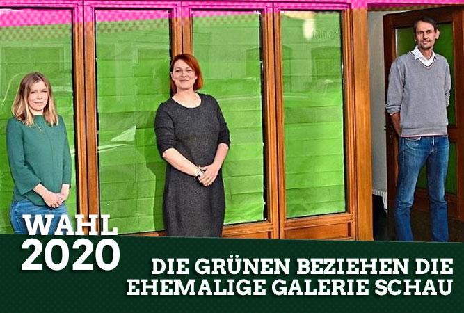 Die Grünen sind in die ehemalige Galerie Schau am Stadtplatz gezogen und haben dort ihr Wahllokal eingerichtet
