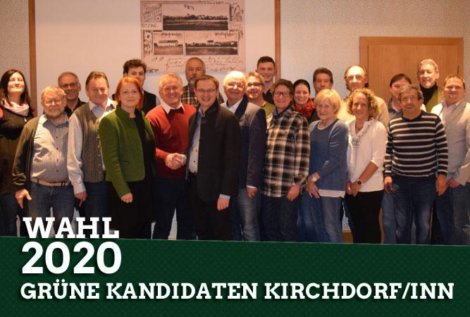 Gemeinsame Liste der Grünen mit der SPD in Kirchdorf am Inn