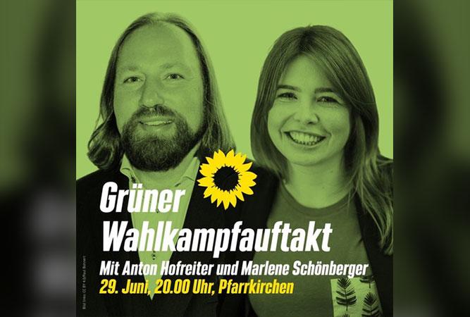 Wahlkampf-Auftakt mit Marlene Schönberger und Toni Hofreiter